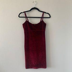 ASOS Red Velvety Mini Dress
